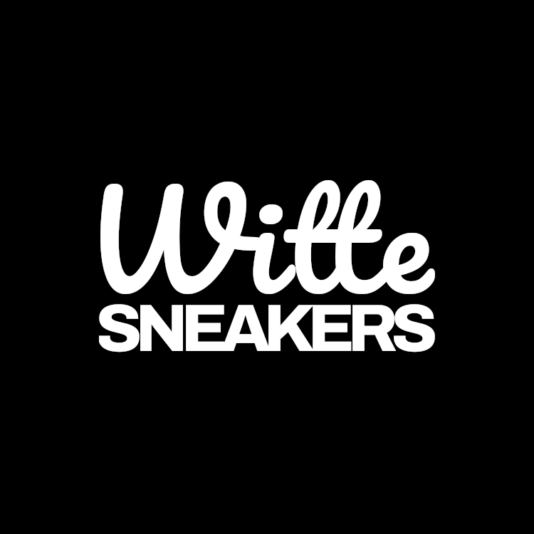 Witte Sneakers Logo Square
